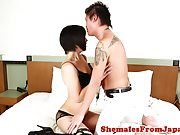 Glam lingerie ladyboy assfucked by lucky guy