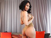 Shemale Megan Snow with hungry ass and cock