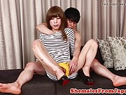 Rimmed japanese newhalf ass railed by dude