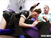 Sweet maid Natalie Mars loves tasting the cum of her boss