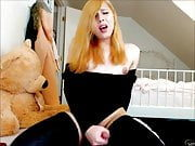 Naughty Ginger Tranny Moaning Hard To Cumshot