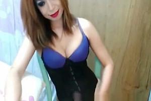 Self engulfing ladyboy prostitute Swallows It All