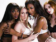 Transgender Lingerie Model Does It With a Nice Ebony Girl –