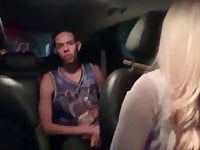 Blond Tranny Predator Taxi Driver Pick Up a Street Boy