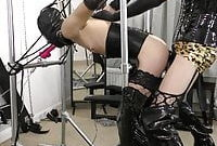 machine spit roast chastity fuck in bondage