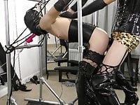 machine spit roast chastity fuck in bondage