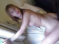 German Teen Tranny Prostitute get Fucked and Swallow Cum