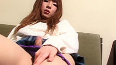 Pretty Blonde Ladyboy Solo Toying